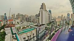 Bangkok Cityscape Time Lapse Stock Footage
