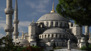 The Blue Mosque in Istanbul Stock Footage