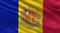 Flag of Andorra Stock Photos