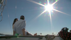 sailing sunstar - stock footage