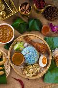 Traditional malaysian food. nasi kerabu is a type of nasi ulam, popular malay Stock Photos
