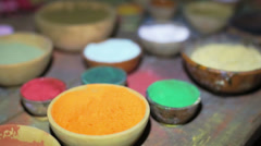 Powder colors Stock Footage