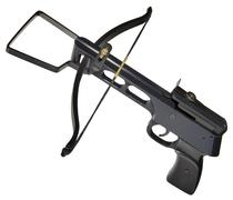 Metallic crossbow cutout Stock Photos