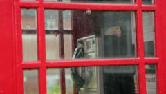 British red telephone box Stock Footage