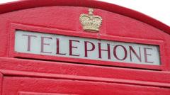 British red telephone box Stock Footage