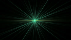 Green Star Shining on Black Stock Footage