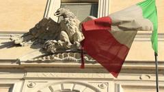 Italian flag, Eagle, Anno Domini 2 Stock Footage