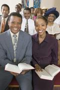 African American People At The Church - stock photo