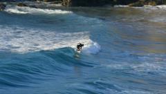 Stock Video Footage of surfing at sundown 11105