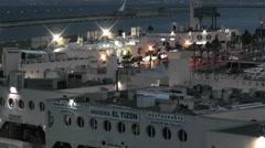 Alicante Spain 116 evening Stock Footage