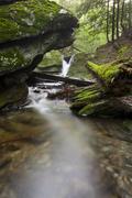 lulu brook in pittsfield, massachusetts - stock photo