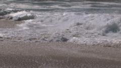 Beach Small Waves Stock Footage