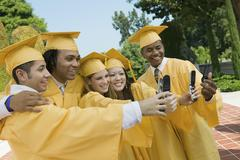 Group Of Graduates Taking Self Portrait Stock Photos