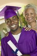 Graduate And Happy Grandmother Stock Photos