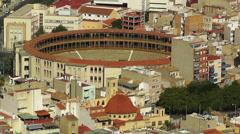 Alicante Spain Bull Arena 19 aerial Stock Footage