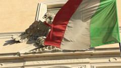 Italian flag, Eagle, Anno Domini 1 Stock Footage