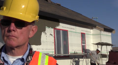 Construction contractor ,stucco Stock Footage
