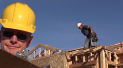 Construction new home builder Stock Footage