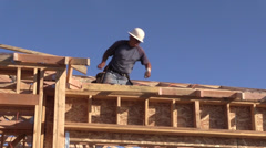 Construction carpenter Stock Footage