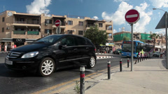 Road intersection at the Harbour, at the end of Apostolou Pavlou Avenue. Cyprus Stock Footage