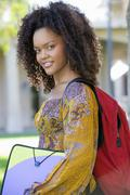 College Student On Campus Stock Photos