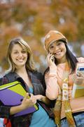 Beautiful College Students On Campus - stock photo