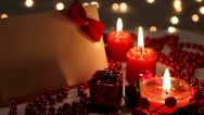 Stock Video Footage of Christmas candles