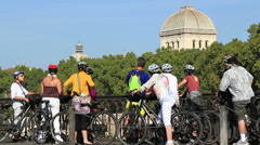 Guided cycle tour of Rome 3 Stock Footage