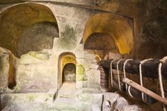 ancient olive oil press - stock photo