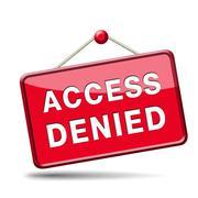 Access denied Stock Illustration