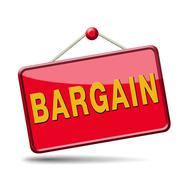Bargain red placard Stock Illustration