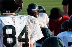 American football team in huddle Kuvituskuvat