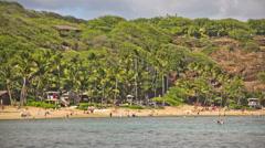 Beach Time Lapse People & Snorkeling - stock footage