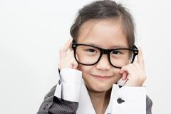 Pretty asian business kid Stock Photos