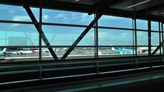 Schipol Airport Amsterdam 15 Stock Footage