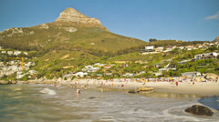 Beach Time Lapse Clifton - stock footage