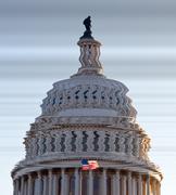 Vääristynyt näkemys kupoli Capitol DC Kuvituskuvat