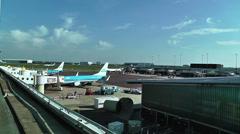 Schipol Airport Amsterdam 21 Stock Footage