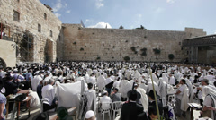 Western wall Priestly Blessing 0913 2 Stock Footage