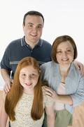 Happy Family Smiling Together Stock Photos