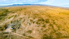 Aerial of West Texas Ranch - stock photo