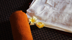 Massage bed Stock Footage