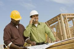 Architects At Construction Site Stock Photos
