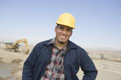 Stock Photo of Happy Architect At Construction Site