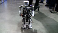 Stock Video Footage of Little robot walking