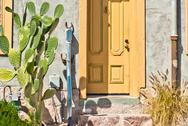 Stock Photo of tucson old barrio historic adobe house