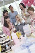 Happy Women At A Baby Shower - stock photo