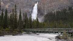 Takakkaw Falls and Yoho River Stock Footage