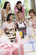 Group Of Diverse Friends At A Baby Shower - stock photo