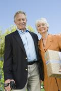 Happy Senior Couple Standing Together Stock Photos
